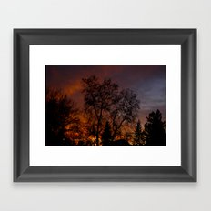 Sunset on the Front Porch Framed Art Print