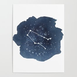 gemini constellation zodiac Poster