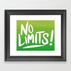 No Limits! Framed Art Print