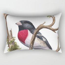 Rose-breasted Grosbeak (Pheucticus ludovicianus) Rectangular Pillow