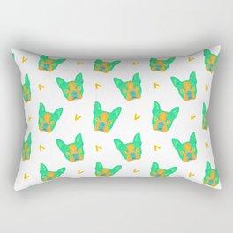 boston terrier - wht pattern Rectangular Pillow