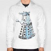 dalek Hoodies featuring Dalek Graffiti by spacemonkey89