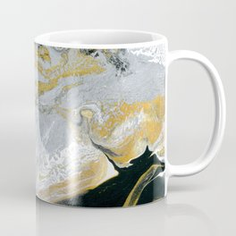 Old Money - Abstract Paintng in Metallic Gold, Silver, and Black Coffee Mug