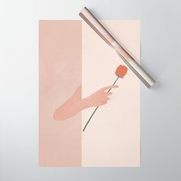 One Rose Flower Wrapping Paper