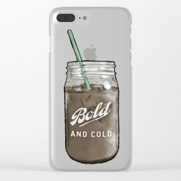 Bold And Cold Clear iPhone Case