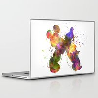donald duck Laptop & iPad Skins featuring Mickey Mouse and Donald Duck in watercolor by Paulrommer