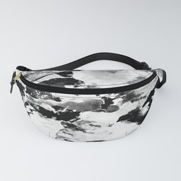 Blk Marble Fanny Pack