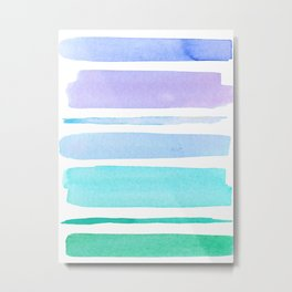 Watercolour Stripes no 1 Metal Print