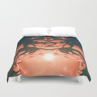 dragonball Duvet Covers featuring Frieza by Mikuloctopus
