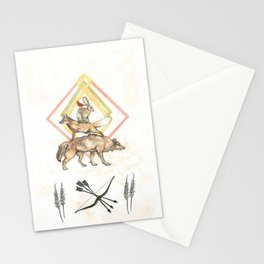 AZTEC Animals with Bow Stationery Cards
