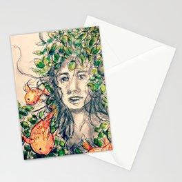 Botanical Koi Stationery Cards