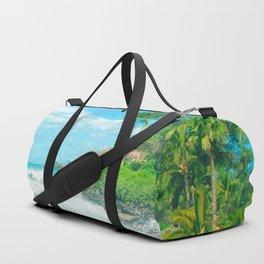 Aloha mai e Pā'ako Beach Mākena Maui Hawaii Duffle Bag