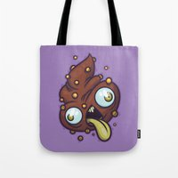 poop Tote Bags featuring Poop by Artistic Dyslexia