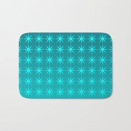 Moonlight Stars - Turquoise Gradient Bath Mat