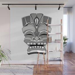 Smiling Tiki-Mask Wall Mural