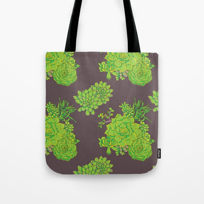 Succulent Pattern Tote Bag