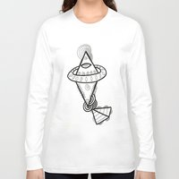 spaceship Long Sleeve T-shirts featuring Diamond Spaceship by Guice Mann