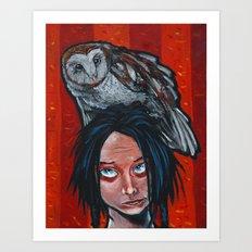whoa, owl! Art Print