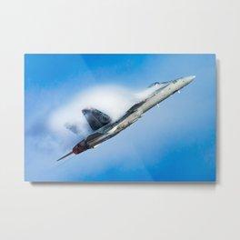 F-18 Hornet fighter jet flying Metal Print