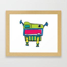 Happy Mr. Turtle Framed Art Print