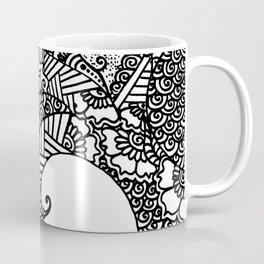 Zen Tree Rebirth White Left Half Coffee Mug