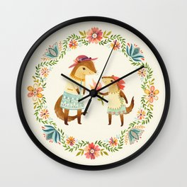Otterly Grateful Wall Clock
