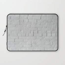 White Brick Wall (Black and White) Laptop Sleeve