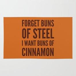 Forget Buns of Steel I want Buns of Cinnamon (Cinnamon Color & Brown) Rug