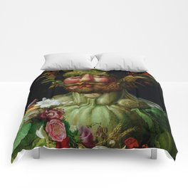 "Giuseppe Arcimboldo ""Holy Roman Emperor Rudolf II re-imagined as Vertumnus"" Comforters"
