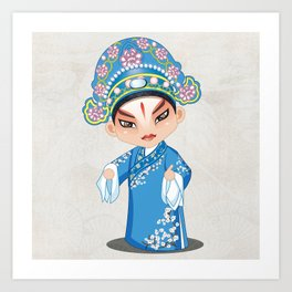 Beijing Opera Character LiuMengMei Art Print