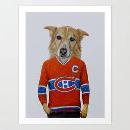 dog in sportwear Art Print