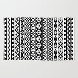Aztec Stylized Pattern Black & White I Rug