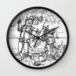 The Death of Knight Cat Wall Clock