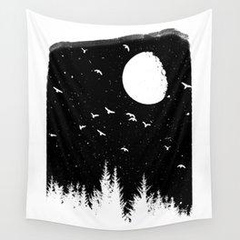 Sunset Night B&W Wall Tapestry