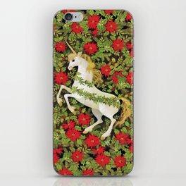 Christmas Unicorn iPhone Skin