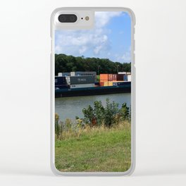 Barge On The Canal Clear iPhone Case