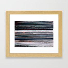 Vinyl Records Framed Art Print