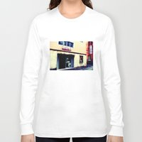 cinema Long Sleeve T-shirts featuring Cinema Roma by Red Bicycle - Amber Elen-Forbat