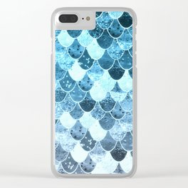 REALLY MERMAID SILVER BLUE Clear iPhone Case