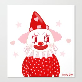 Poopywise the Clown Canvas Print
