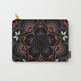 Lotus flower mandala in soft pastel colors Carry-All Pouch