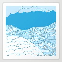 Sea & Sand Art Print