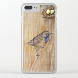 Bird Spring Collection Clear iPhone Case