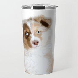 Australian Sheperd Puppy Travel Mug