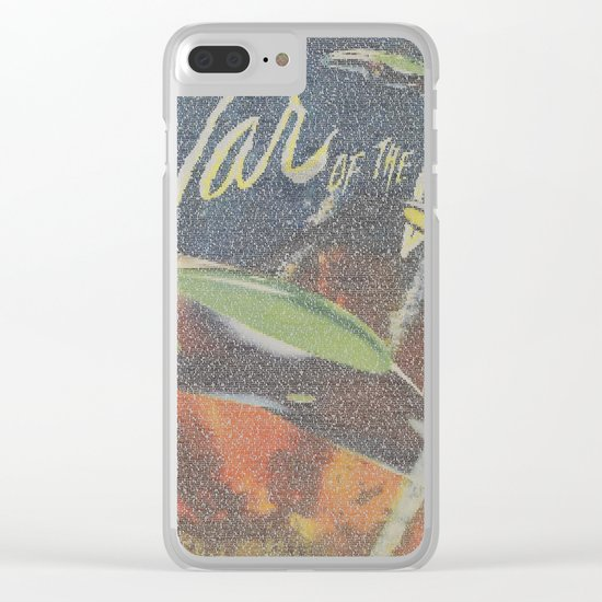 War Of The Worlds Script Print Clear iPhone Case