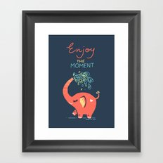 Enjoy the Moment Framed Art Print