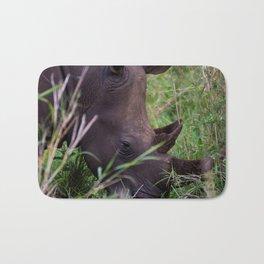 White Rhino in Hluhluwe-Imfolozi Park Bath Mat