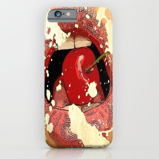 Red Cherry Lips iPhone & iPod Case