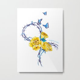 Ribbon | Endometriosis awareness Metal Print