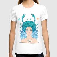 zodiac T-shirts featuring Zodiac Cancer by Varvara Gorbash